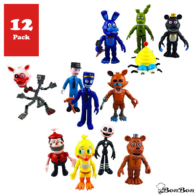 Fnaf Five Nights at Freddy's Action Figures Toys Dolls (12 Piece), 4""