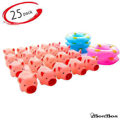 BonBon Baby Bathroom Toys Rubber Pig Bath Toy for Toddlers 25pcs