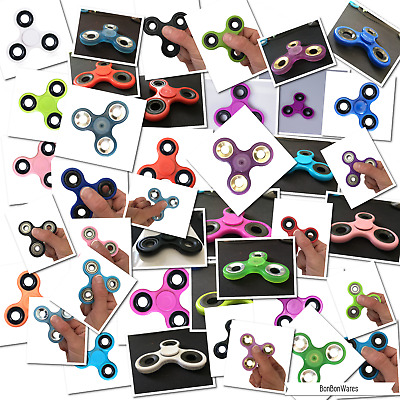 Lot 100X Hand Spinner Tri Fidget Steel Ball Toy Edc Finger Gyro For Kids Adult