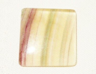 "Fluorite Gemstone Cabochon ""large"" 3.3 X 3.5Cm, 19Gm ""new"" Auz Seller C193"