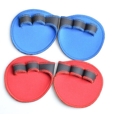 1 Pair Weight Lifting Hand Grips Pads Sport Workout Palms Gloves Fitness Protect