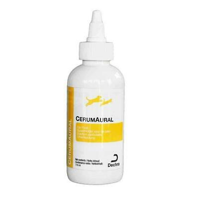 Dechra CerumAural Ear Flush Cleaning Solution for Dogs & Cats 118ml Bottle
