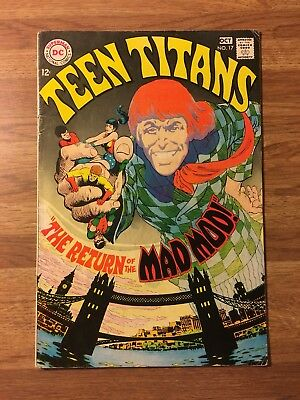 Teen Titans #17 (DC 1968) The Return Of The Mad Mod~Nick Cardy~Silver Age~Movie