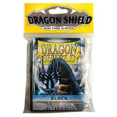 ARCANE TINMEN - Dragon Shield Mini Card Sleeves Black - 50 Sleeves