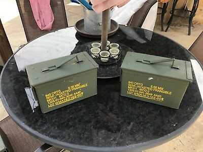 2 pack of 50 CAL AMMO CAN M2A1 5.56mm .50 Caliber USGI Military Surplus in great