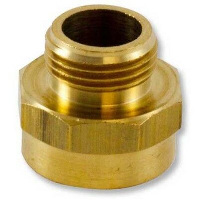 """Brass Hex 1"""" Female NH to Male Garden Hose Adapter (GHT)"""
