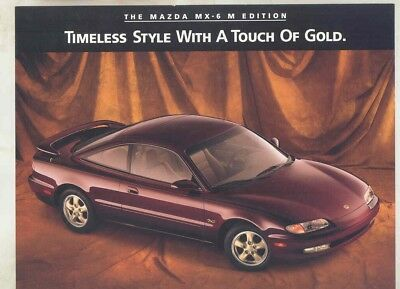 1996 Mazda MX6 M Edition Brochure my5832