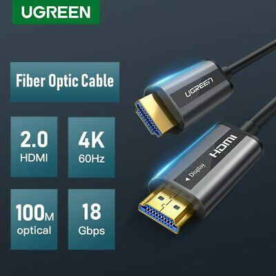 Ugreen 4K 60Hz Fiber Optic HDMI Cable HDMI to HDMI Cable for HD TV Box PS4