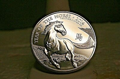 2014 UK Britannia Year Of The Horse £2 Two Pound One Troy Oz Ounce .999 Silver