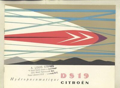 1957 Citroen DS19 Brochure wz6225