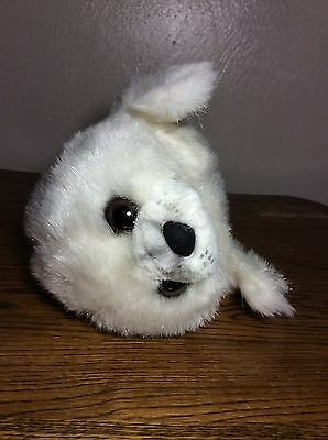 Vintage Yomiko Russ Berrie Seal Sea Lion Plush White Animal Life-Like Kawaii
