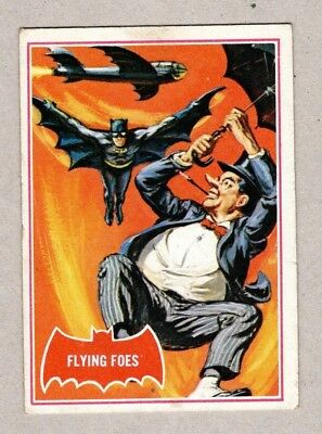 1966 Topps Batman Trading Card, Red Bat #31A, EX Condition