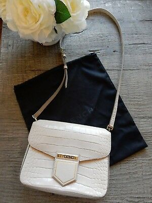 10c564fbb22  1800 Givenchy Nobile Small Croc Embossed leather Shoulder Cross Body Bag,  Nude