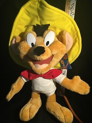 """Speedy Gonzales Plush Stuffed Animal Mouse Toy 18"""" Six Flags Promo New."""