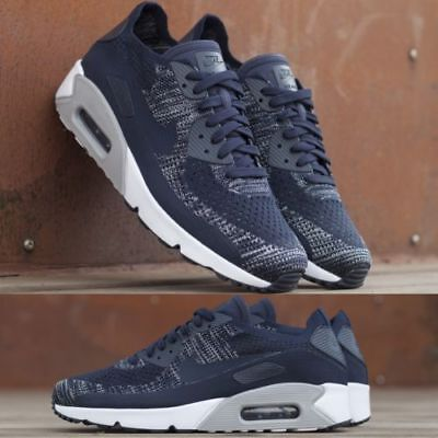 competitive price 1de61 8e7ee Nike Air Max 90 Ultra 2.0 Flyknit 875943 401 College Navy Men s Running  Shoes