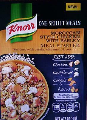 Knorr One Skillet Meals Moroccan Style Chicken With Barley Meal Starter