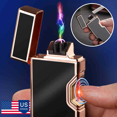 Infrared Dual Arc Electric USB Lighter Plasma Flameless Cigarette Rechargeable