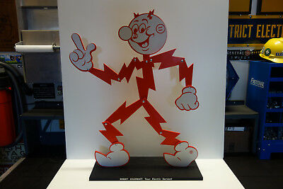 Reddy Kilowatt Huge Articulating Character. Lineman And Electrician's Gift