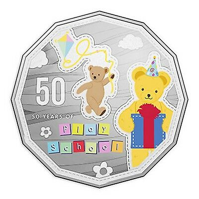 2016 50 Years Play School Big Ted and Little Ted 50c Fifty Cents UNC Coin RAM