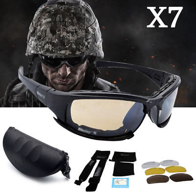 Daisy X7 Polarised Tactical Military Style Glasses Goggles Motorcycle Sunglasses