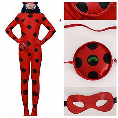 Women Adult Costume Cosplay Jumpsuit Halloween Party Bodysuit+Mask+Bag Dress Up