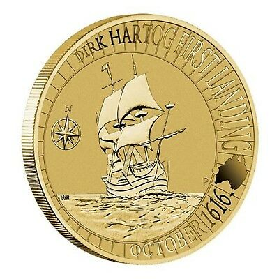 2016 400 Years Dirk Hartog's Landing Australia $1 One Dollar UNC Coin Perth Mint