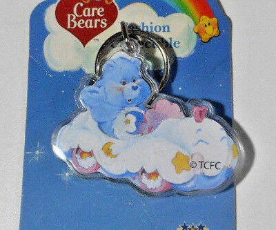 Bedtime Bear in Cloud Car Care Bears  Keychain 2003 Tri Star Last One