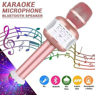 Karaoke Microphone, Portable Handheld Wireless with Bluetooth Speaker...