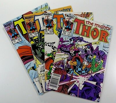 MARVEL Comic THE MIGHTY THOR 1966 #352 353 354 355 Simonson Run LOT Ships FREE!