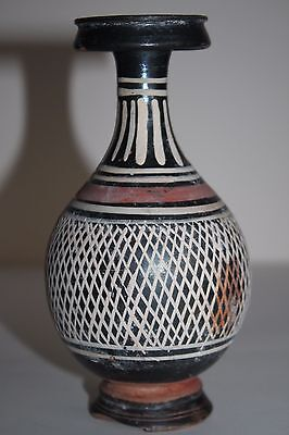 ANCIENT GREEK POTTERY NET VASE 4th CENTURY  BC