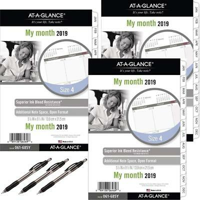 at-A-Glance Day Runner Monthly Planner Refill, January 2019 - December 2019,...