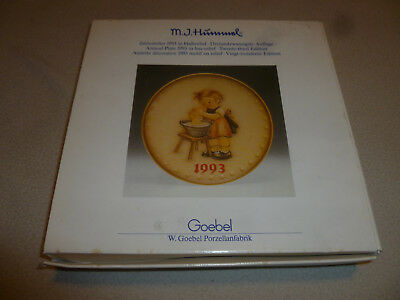Boxed M.j. Hummel Goebel 1993 Plate Germany 23Rd Edition Annual Doll Bath Girl