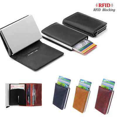 Anti-theft 100% RFID Blocking Slim Wallet Tactical Tri-fold Credit Card Holder