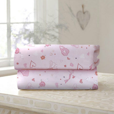 Clair de Lune Tippy Toes Cotton Fitted Sheet, Pink, 2 Pack