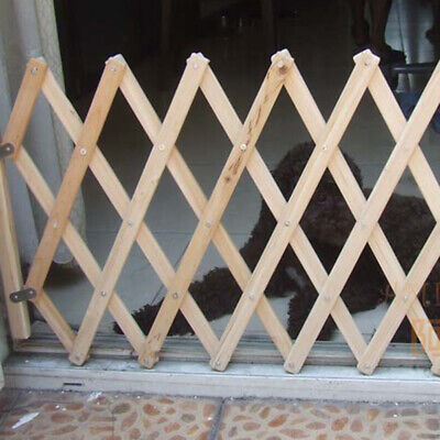 Folding Small Pet Dog Barrier Wooden Safety Gate Expanding Swing Puppy Fence
