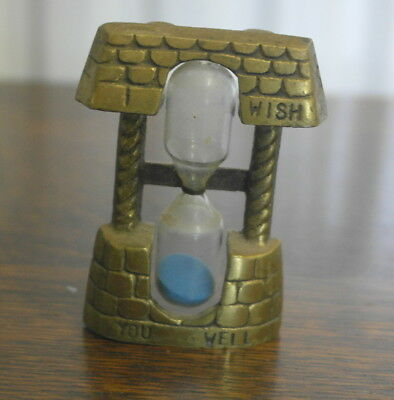 vintage brass wishing well EGG TIMER