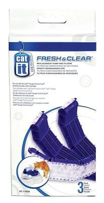 Catit Fresh & Clear Replacement Purifying Filters x 3 For Drinking Fountain
