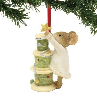 Enesco H8 Heart of Christmas Mouse Sewing O Tannenbobbin Ornament 2.5in