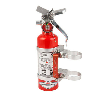 Axia Alloys Quick Release Fire Extinguisher & Clamps - 1.4 LB Halotron Red