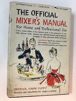 THE OFFICIAL MIXER'S MANUAL Vintage Bartender's Guide Cocktail Recipes 1956 HC