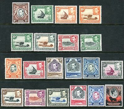 K.U.T-1938-54  A mounted mint set of 20 values, cheapest varieties Sg 131-150b