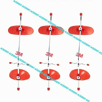 3 sets Adjustable Face Mask Orthodontic REVERSE PULL HEADGEAR for Class III RED