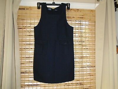 FRENCH TOAST Girls size 10 Cute NAVY Jumper-SCHOOL