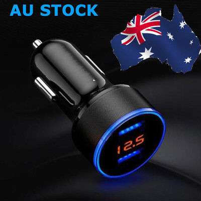 3.1A Dual USB Car Charger 2 Port LCD Display 12-24V Cigarette Socket Lighter Hot
