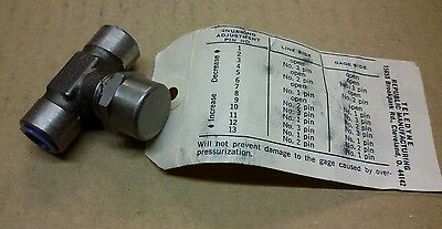 "Teledyne Pressure Gage Snubber 6011 1/4"" Stainless NEW"