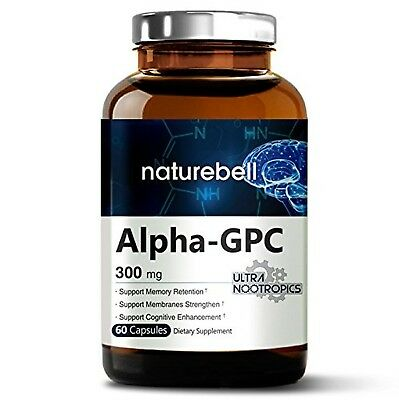 Alpha GPC Choline Supplement, 600mg Per Serving, 60 Capsules, Powerfully