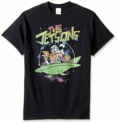 Hanna-Barbera Men's The Jetsons T-Shirt, Black-XL SIZE