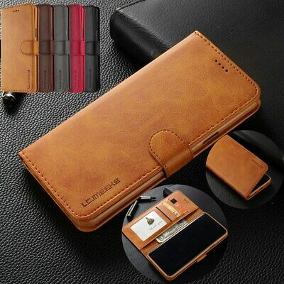 For Samsung Galaxy Note 9 S9+ S8+ Leather Business Wallet Flip Phone Case Cover