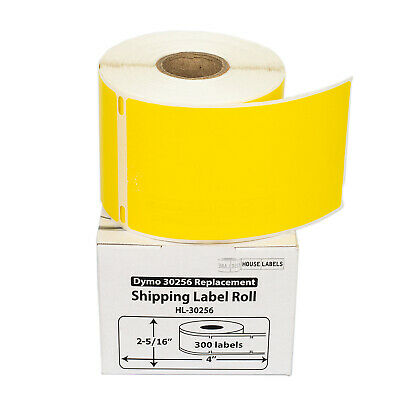 LOT 1-50 Rolls 300 Labels REMOVABLE YELLOW Labels for Dymo LabelWriters LW 30256