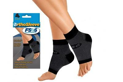 OrthoSleeve FS6 Compression Foot Sleeve (One Pair) for Plantar Fasciitis,...